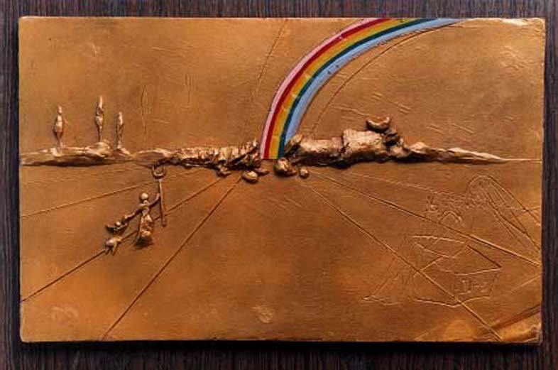 vrai art dans ART salvador_dali_the_rainbow_1972